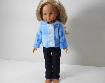 13 inch doll clothes made to fit dolls such as Corolle Les Cheries doll clothes, Three Piece Jeansd, Top Fleece Hoodie, 12-1642