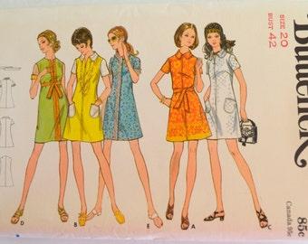 Butterick 5767 Misses One Piece Mod Dress Size 20 UNCUT