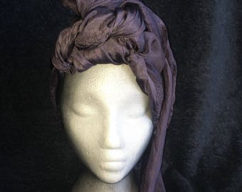 Charcoal black silk nuno felted scarf