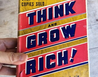 1951 printing Think and Grow Rich! by Napoleon Hill, hardcover finance book, Andrew Carnegie get rich, vintage money book, gift for finance
