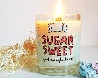 SUGAR SWEET Hand Poured Soy Wax Candle