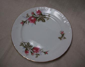 Grant Crest Royal Rose Plate with Silverware Plate Holder