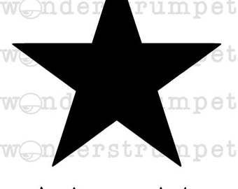 Black Star Bowie Inspired Stencil