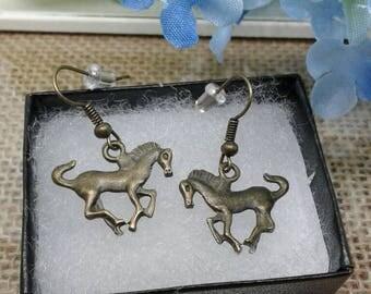 Mustang Horse Earrings