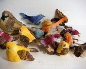 16 Birds - Artificial Birds  Floral Supplies Craft Supplies Birds