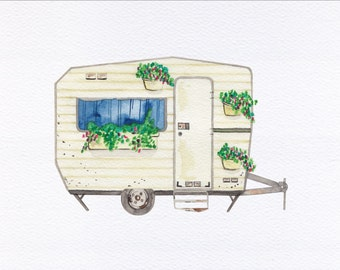 Camper Unframed Watercolor Art Print