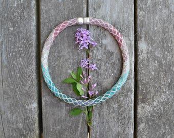 Ombre Necklace Kit Single Stitch Bead Crochet Pattern & Kit