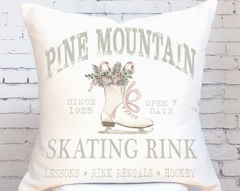 Pillow Cover Christmas Pillow Ice Skating Rink