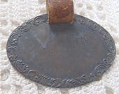 Vintage Luggage Tag Mechanics Sterling Silver Co. Leather Strap