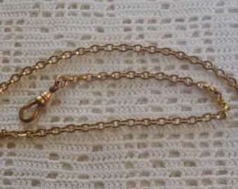 "Vintage Pocket Watch Chain 14"" Belcher Links"