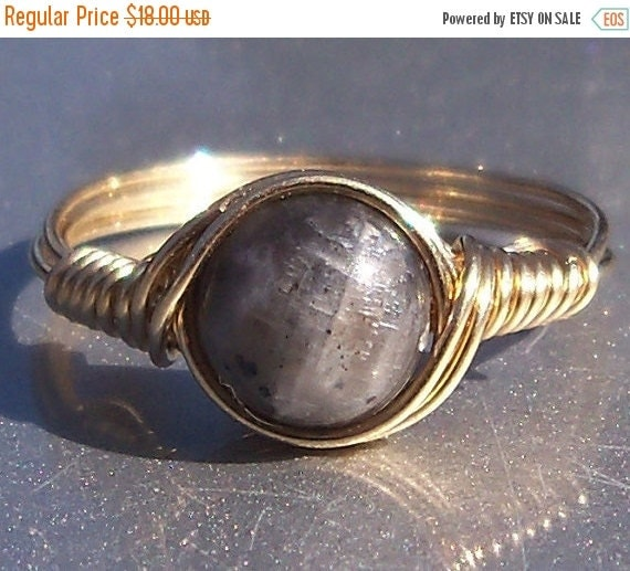 15% OFF SALE Blue Labradorite Ring- Custom Sized in 14k Gold Filled Wire Wrapped