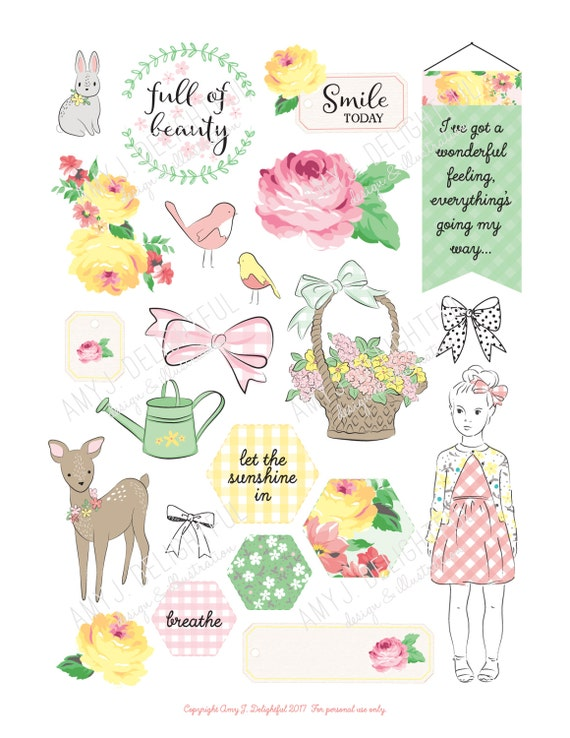 Galerry free printable planner die cuts