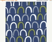 Sale up to 40% off Oink a Doodle Moo denim dark navy rolling hills  by jenn Ski for Moda 30526 17