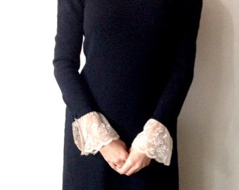 Knit and lace vintage dress