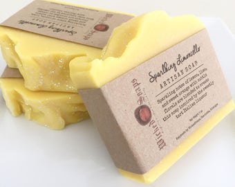 Sparking Limoncello Artisan Soap - Handmade Soap, Coconut Milk Soap