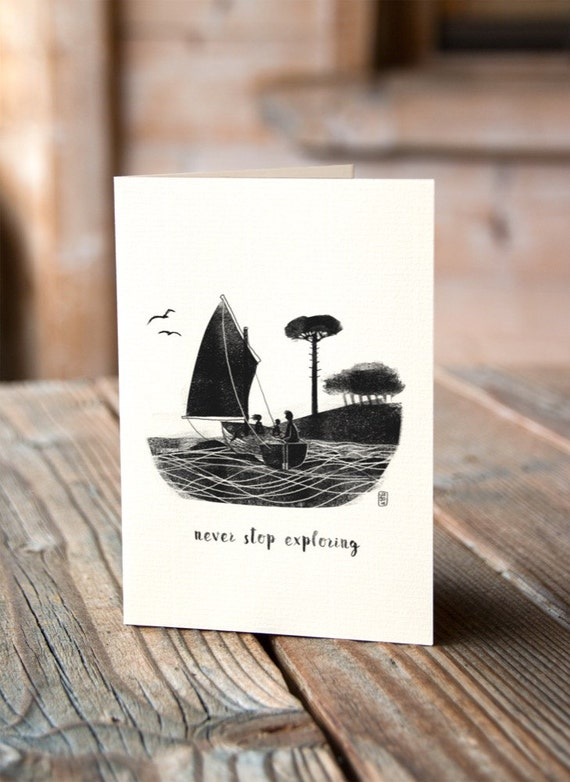 Wildcat Island - Never Stop Exploring - Greetings Card