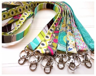 Lanyard, Fabric Lanyard, ID Badge Holder, Key Holder - Choose your design [17-23]