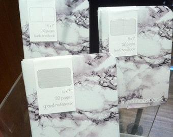 Marble Lined Notebook