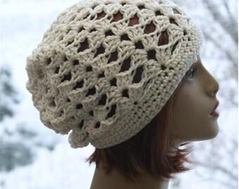 Slouchy Hat Beanie  Crochet Beanie Hat  Slouchy  Crochet  Hat Fashion Accessories  All Season Beanie Back to School Hat