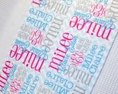 BLANKET SALE Personalized Baby Lovey - Mini Baby Blanket - Monogrammed Baby Gift
