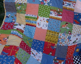 American Jane Retro Baby/Toddler Quilt - Square Patchwork