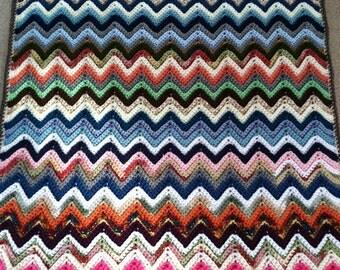 Crochet Baby Blanket / Afghan - Lap Blanket / Afghan in Multicolors