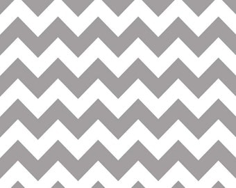 Riley Blake - Medium Chevron in Gray - flannel  - by the yard