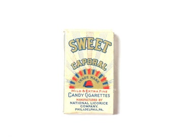 Sweet Caporal Candy Cigarette Box Vintage