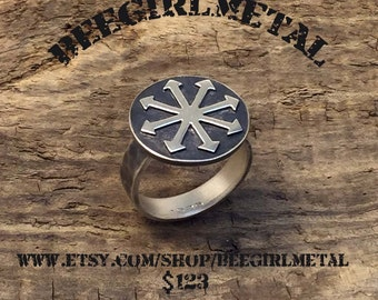 Sterling CHAOS signet ring (rustic)