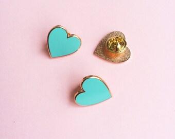 Rose Gold Heart Enamel Pin