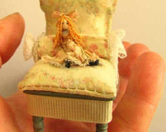 From *DJD* Child's nursery chair with dolly.