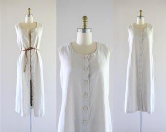 linen midi dress / duster