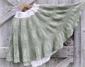 Green Skirt Crochet Lace Mori Girl