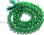 Green Onyx Smooth Round (Quality AAA) / 6.5 mm / 36 cm / GR-007