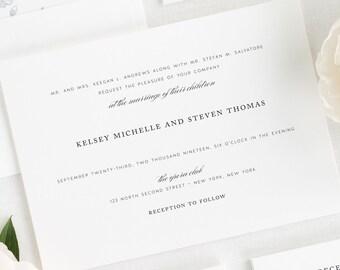 Classic Elegance Wedding Invitations - Deposit