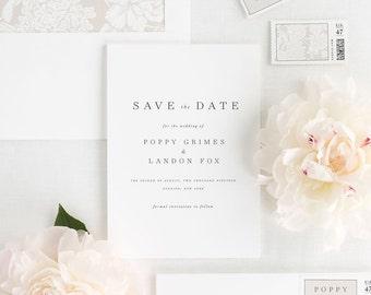 Poppy Save the Date - Deposit
