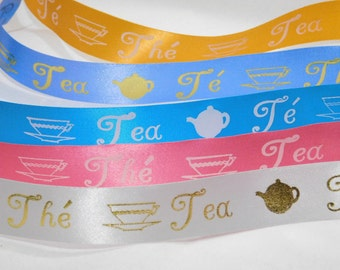 Tea Satin Ribbon SPECIAL OFFER 1 inch width, non-fray cut edge 75 ft Charles Clay Nature's Choice Biodegradable Ribbon, Made in England
