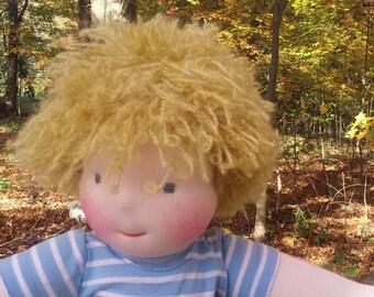 """SALE on Waldorf Boy Doll - 16"""" cloth doll,great gift for boys, Cloth Doll, Rag Doll, 16"""" Doll, Cotton and Wool Doll, Doll for Boys"""