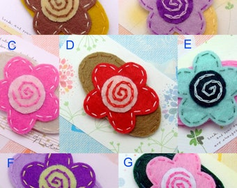 Handmade felt snap hair clip (FC- Group 18)