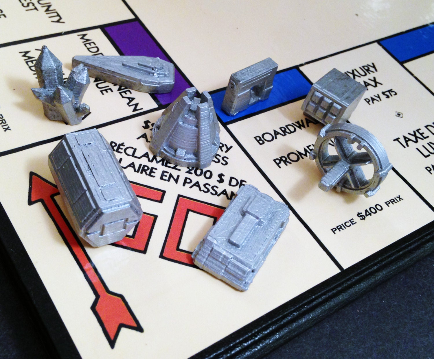how to make custom monopoly pieces