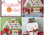 CUSTOM LISTING FOR Lori Cummings - Handmade Christmas Gingerbread House & Snowman Shaped Cards