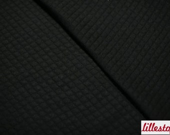 Quilted, Padded Organic Cotton Fabric, black by lillestoff