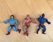 Heman Masters of the Universe Action Figures Set of 3 MOTU Collectible 80s Toys