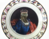 """ON SALE Lady Aves, Countess of Strigidae Plate 7.75"""""""