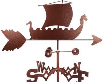 Hand Made Viking Ship Weathervane New