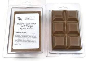 Pumpkin Pecan Waffles Scented Soy Wax Break Apart Wax Waffle Block | Wax Melts in a Clamshell Waffle Block | Pure Soy Wax Tarts | 100% Soy