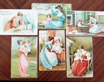 Victorian Postcards, Antique Mother Images, Original Post Cards, Early 1900s, 13894