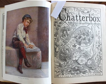 1927 Chatterbox Book, 316 Pages, Illustrated Children's Annual, Antique Publication, Some Color Plates 13912
