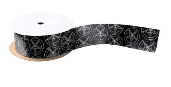 "Sigil of Baphomet Ribbon 3"" wide"