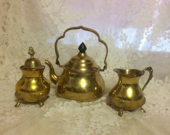 Little Petite Brass Tea Set